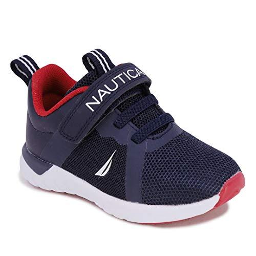 Nautica Kids Boys Girls Fashion Sneaker Athletic Running Shoe with Stap for Toddler and Little Kids-Jurnee Saga-Navy Tonal-12