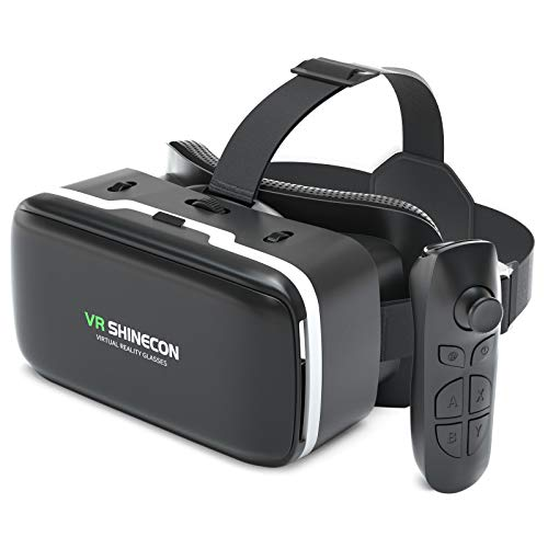 VR Headset for iPhone and Android with remote controller, 3D VR Virtual Reality Gaming Glasses set,...