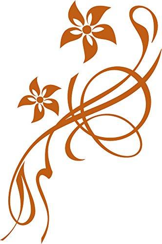 GRAZDesign Bad Deko Tattoos Klebefolie Blumen Blüten Ornamente - Aufkleber Toilettendeckel WC Deckel Sitz Schönes Motiv - Klodeckel Aufkleber lustige Blume / 20x30cm / 650194_30x20_083