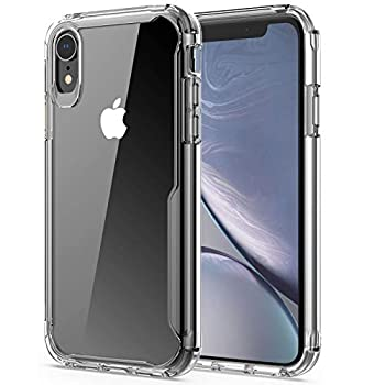 EFFENX Crystal Clear iPhone XR/X/10 Case Non-Yellowing Shockproof Protective Phone Case Slim Thin TPU Bumper Cover [Soft Anti-Scratch] 6.1 inch