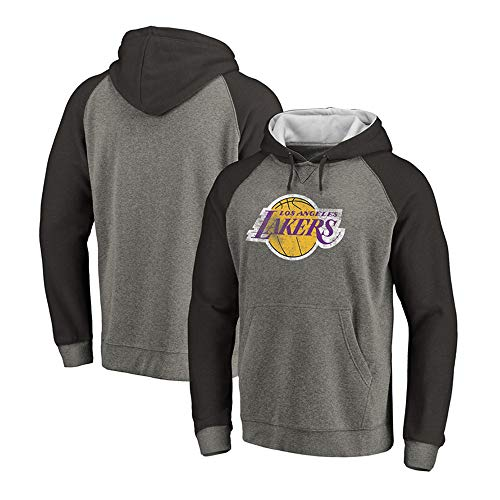 Lakers Heren Sweater, NBA Basketbal Fan Hoodie, Casual Ronde Hals Losse Comfortabele Sport Training Suit Jeugd Sweater