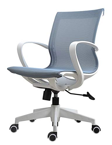 Ergonomic Swivel Mesh Mid-Back Computer Desk Chair with Breathable Skin-Friendly Mesh Office Desk Chair with Adjustable Lumbar Support