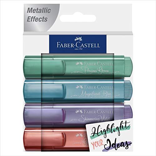 Confezione da 4 Textliner 46 metallici, Cs. Nuovi colori: 39, 47, 73 e 78. Presentazione cs = Creative Studio