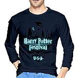 ブルームン Tシャツ 長袖 ハリーポッター Harry Potter トレーナー シャツ 上着 ファッション カットソー Xxl Navy 綿 メンズ レディース