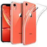 EasyAcc Slim Case for iPhone XR, Crystal Clear Soft TPU Thin Phone Cases Transparent Back Protective Anti Slip Cover Compatible with iPhone XR 6.1 inch