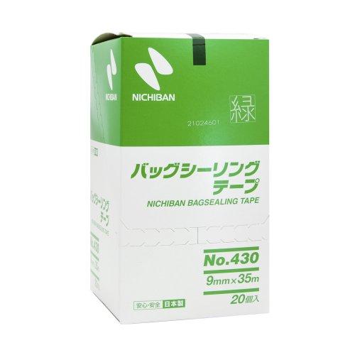 ニチバン バッグシーリング テープ No.430 20巻入 9mm×35m 緑 430G