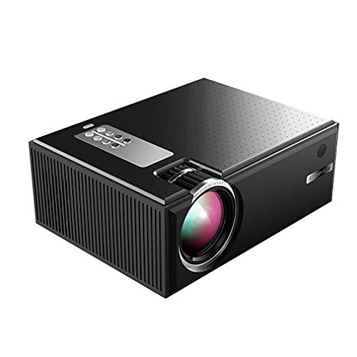 XWEM Proyector HD 1080P, Proyector De Fuentes De Luz De 2800 Lúmenes Portátiles VGA/HDMI/Lente De Cristal De 5 Capas De 5 Capas para Computadora Portátil Equipo De Proyección De TV De PC