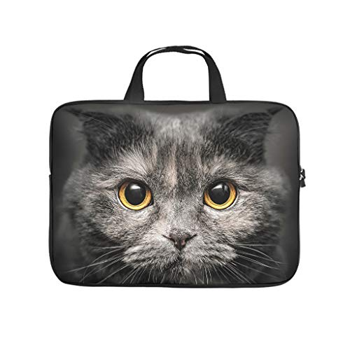 Multifunctional Black Cat Laptop Bag Case Laptop Tote Bag - for Work/Business/College/Travel White 10 Zoll