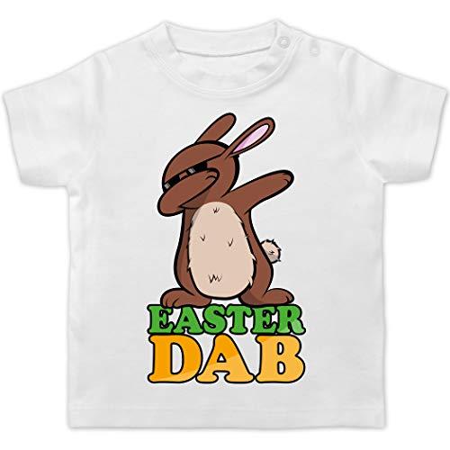 Ostern Baby - Dab Osterhase - 1/3 Monate - Weiß - Dabbing - BZ02 - Baby T-Shirt Kurzarm
