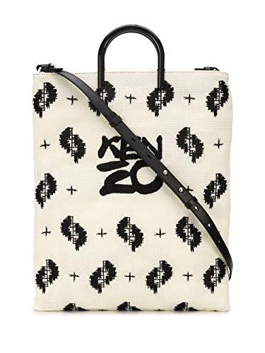 Luxury Fashion   Kenzo Woman FA52SA001F2102 White Leather Tote   Spring Summer 20