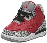 Nike Jordan 3 Retro Se (TD), Zapatillas de básquetbol para Niños, Fire Red/Fire Red/Cement Grey/Black, 27 EU