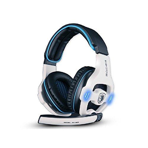 Sades SA903 7.1 - Auriculares de Diadema para Videojuegos (USB, Sonido Envolvente, Sonido estéreo, Tarjeta de Sonido integrada)