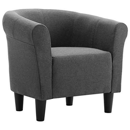 FKDEBAR Gris Oscuro Tela sofá de la Sala de Estar, Moderno Sillón Muebles duraderos cómodo Tela-70x56x66cm