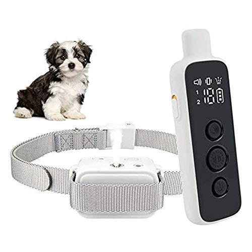 Collar de Spray de Corteza de Perro Recargable, 3 Modos de Entrenamiento, Pantalla LED y IPX7, Collar de Entrenamiento Ajustable a Prueba de Agua, Ajustable
