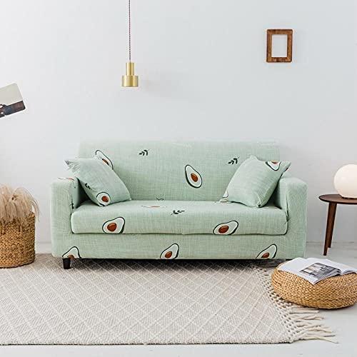 Funda Elástica de Sofá 2 plazas y 4 plazas, Fundas de Tela Escocesa geométricas Fundas de sofá elásticas para Sala de Estar, Fundas elásticas para sillas de sofá Toalla de sofá 2PCS