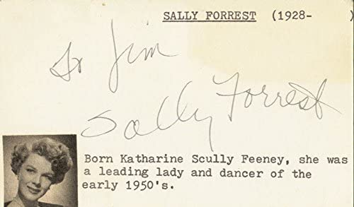 Sally Forrest - shipfree Sale price Inscribed Signature