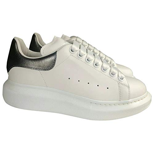 Alexander McQueen White/Silver Oversize Low Top Sneakers New/Authentic FW20 (6)