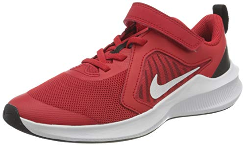 Nike Downshifter 10 (PSV), Scarpe da Corsa Unisex-Bambini, University Red/White/Black/White, 32 EU