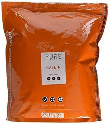 Bodybuilding Warehouse Pure 100% Micellar Casein Slow Release Powder (Strawberry, 2kg)