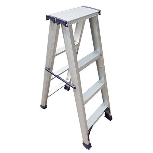 Ladder Haushaltsklappaluminiumlegierung DREI oder Vier fünfstufige Verdickungs Fischgrät-Ladder Treppe Trittleiter Innentechnik Rolltreppe Stabilität und Sicherheit