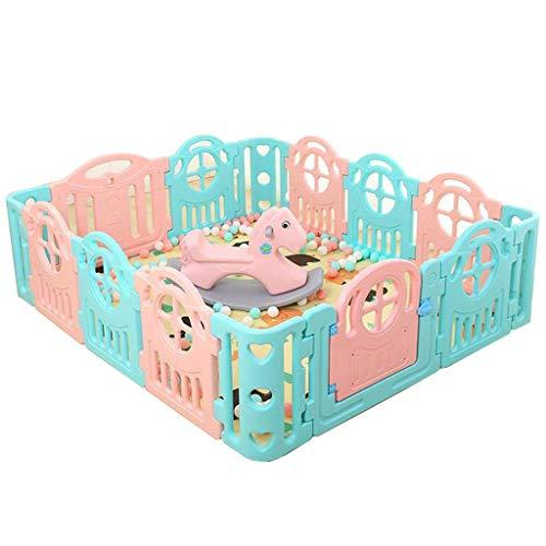NMDCDH Babys Kindersicherheitsspielplatz Hof Babyspielplatz mit Schaukelpferd Spielplatz Hof (180x200cm)