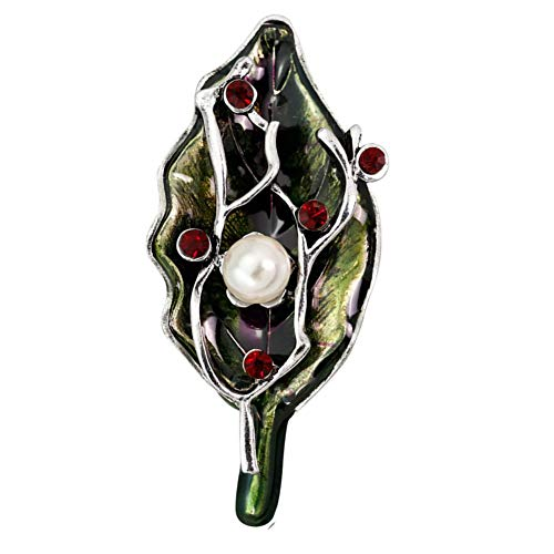 Brooches Pins Safety Pin Large Safety Pins Plant Brooch Leaf Brooch Scarf Brooches for Women Vintage Brooch Women Brooch Pin Enamel Brooch