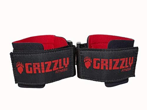 Grizzly Fitness Herren Weight Lifting Wrist Wraps Handgelenkbandagen zum Gewichtheben, schwarz, Einheitsgröße