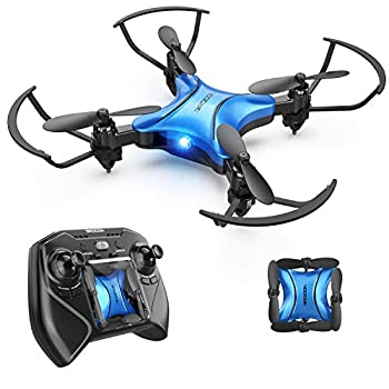 DROCON Foldable Mini Drone for Kids or Adults Best Gift Portable Pocket Quadcopter with Altitude Hold 3D Flips and Headless Mode Easy to Fly Small Durable RC Helicopter for Beginners