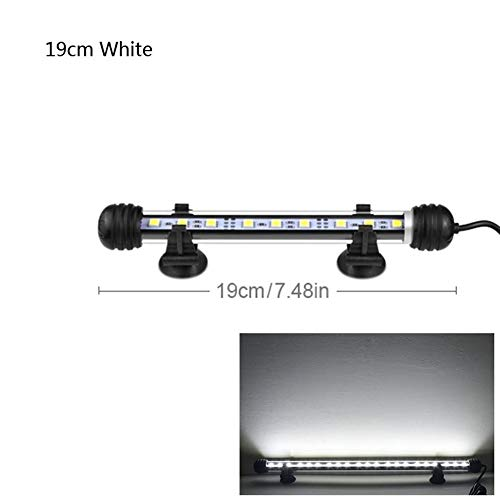 WML-LAMP 9cm 29cm 39cm 49cm LED Aquarium Light Aquarium Decoratie Lamp 110V 220V RGB LED Hard Strip Barlicht IP68 waterdicht EU-stekker Aquarium, 49 cm wit.