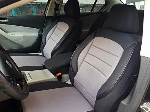 Sitzbezüge k-maniac für Audi A8 D2 | Universal schwarz-grau | Autositzbezüge Set Komplett | Autozubehör Innenraum | NO2320440 | Kfz Tuning | Sitzbezug | Sitzschoner