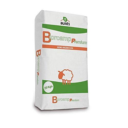 BIORCAMP PREMIUM PELLETS - Abono Orgánico Estiércol de Oveja para Cultivos Hortícolas, Frutales y Viñedos en Agricultura Ecológica - Saco 25 kg