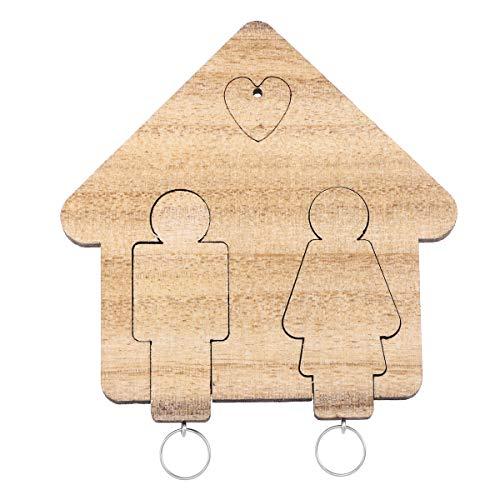 VORCOOL - Llavero de parejas personalizado, para San Valentín, color marrón
