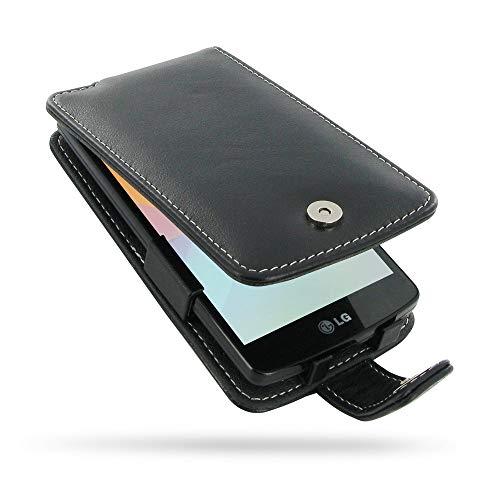 PDair Handarbeit Leder Hülle - Leather Flip Case for LG L Fino Dual D295F