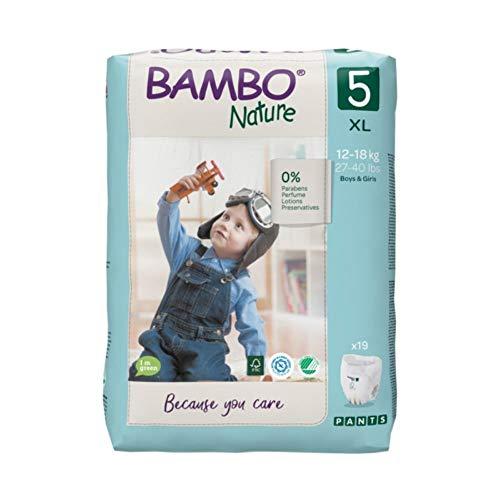 Bambo Nature Pantalones de entrenamiento premium talla 5 (12-18 kg) paquete de 19