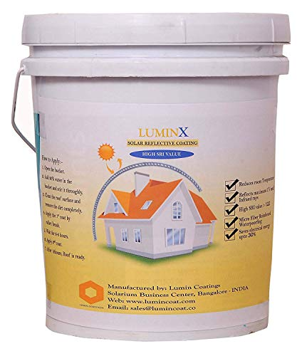 LuminX Solar Reflective Coating Summer Cool Roof Heat Resistance Paint| High SRI 20kg ( 700 sqft)