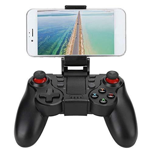 Dilwe Mobiler Gamecontroller, drahtloses Bluetooth 4.0-Gamepad mit Telefonclip, Handgriff für den direkten Gamecontroller mit mobilem Gamecontroller, Gamepad-Joystick für IOS/Android