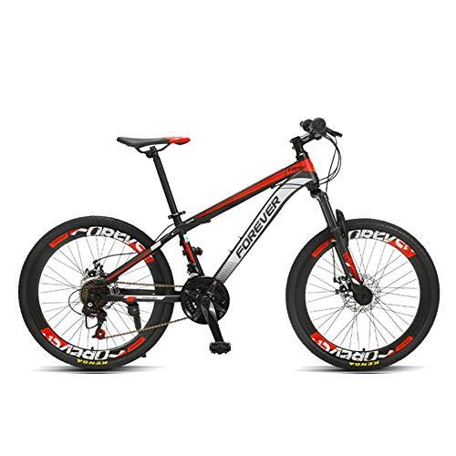 FUFU 20'Bicicletta per Bambini per Bambini, per 9-14 Anni Vecchi e Ragazze Bambini Regolabili per Bambini Mountain Bike, Verde, Rosso (Color : Red)