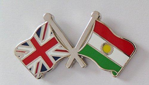 1000 Flags Kurdistan-Flagge & Großbritannien-Flagge Freundschaftsanstecker