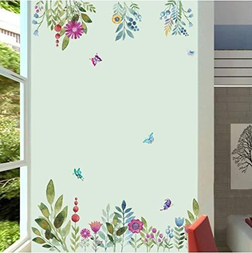 Buntes Frühlingsblumen-Tv-Hintergrundsofa Asuka Schmetterling Wandtattoo 3D-Dekoration