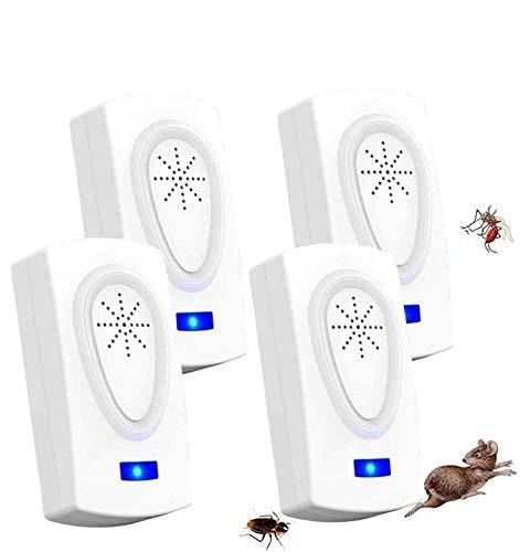 MATEHOM Repelente Ultrasónico Mosquitos,Electrónico Repelente Ultrasónico Plagas Repelente Insectos Interiores Control de Plagas para Cucarachas Pulgas Moscas Arañas Hormigas Ratones Ratas