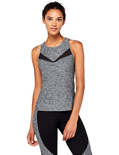 Marca Amazon - AURIQUE Camiseta Deportiva de Tirantes Mujer