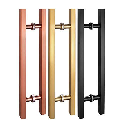 LYBD Manija de Puerta - palancas de Acero Inoxidable, manija de Puerta corrediza de Vidrio, Espacio Entre Orificios 40/50/60/80/90/110 / 120cm, 3 Colores