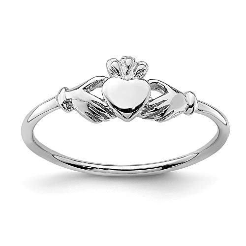 925 Sterling Silver Irish Claddagh Celtic Knot Band Ring Size 7.00 Fine Jewelry For Women Gifts For Her