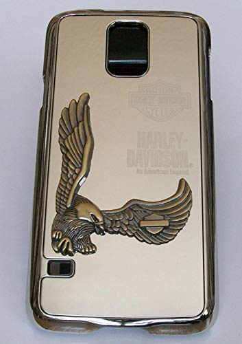 Adago - Cover posteriore per Samsung S5 Harley-Davidson Motor American Legend 3D Eagle (argento)