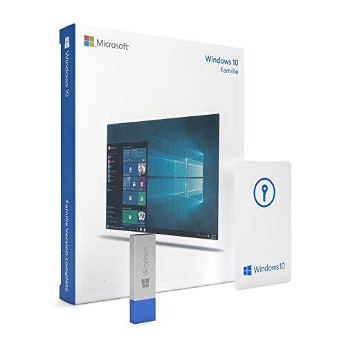 Windows 10 Famille 64 bits USB - License Français - Windows 10 Home 64 bits - Système d'exploitation 64 bits
