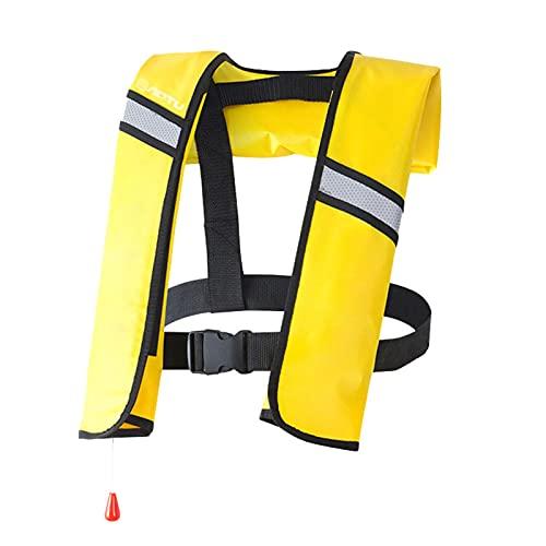 ZAYZ Chalecos Salvavidas Inflables Muy Visible Chaleco Salvavidas para Snorkel, 5 Colores, para Todas Las Personas (Color : Yellow)