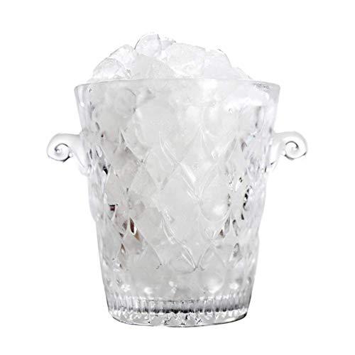ZXL Portaghiaccio,Secchiello per Il Ghiaccio Trasparente per Feste, refrigeratore per Vino in Vetro Secchiello per Champagne Bicchieri di Cristallo Contenitore per Vino di Ghiaccio Beerbarrel sp