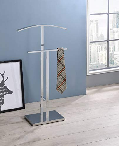 Kings Brand Furniture Chrome Finish Metal Suit Rack Valet Stand