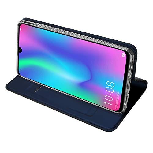 DUX DUCIS Hülle für Honor 10 Lite, Leder Flip Handyhülle Schutzhülle Tasche Case mit [Kartenfach] [Standfunktion] [Magnetverschluss] für Huawei Honor 10 Lite (Blau) - 3