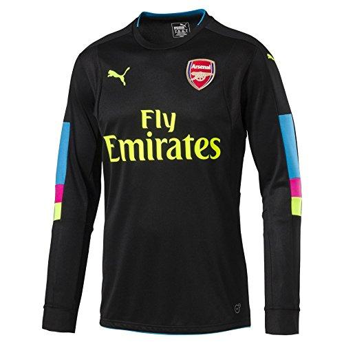 PUMA 2016-2017 Arsenal Home LS Goalkeeper Football Soccer T-Shirt Trikot (Black) - Kids